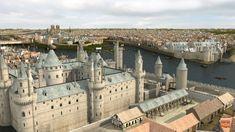 Paris, le château du Louvre au moyen-âge