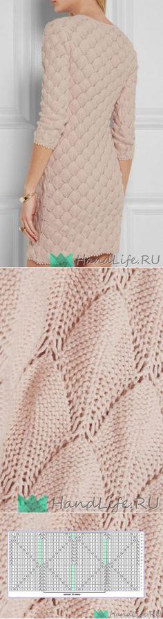 Шикарное платье спицами / Вязание
