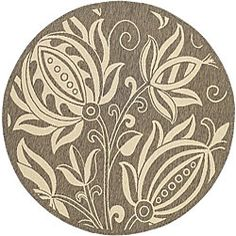 looking for the perfect round rug for my living room.  This one would blend in with the wall color...