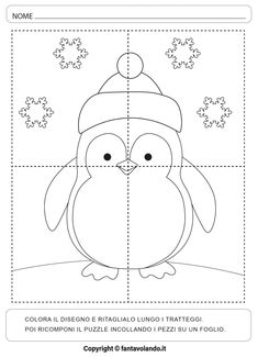 Diy And Crafts, Crafts For Kids, Primary School, Arctic, Hand Embroidery, Coloring Pages, Baby Kids, Kindergarten, Puzzle