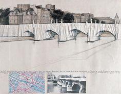 The Pont Neuf Wrapped (Project for Pont Neuf - Paris; Quai des Grandes Augustins, Quai du Louvre, Quai de la Megisserie and Quai de Conti)