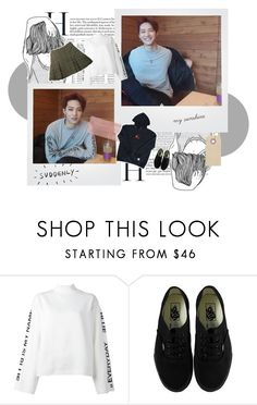 """""""That smile i can't forget -Im Jaebum"""" by jeon-woonie ❤ liked on Polyvore featuring Garcia, Steve J & Yoni P, Vans, Wilt, skirt, hoodie, women, GOT7 and jaebum"""