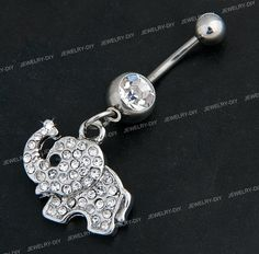 elephant belly ring. Not that I'd ever get my belly button pierced but this is too cute