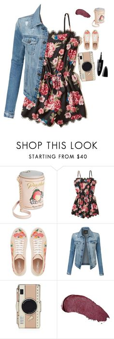 """""""Untitled #670"""" by samson-90 ❤ liked on Polyvore featuring Betsey Johnson, Hollister Co., LE3NO, Kate Spade, Kat Von D and Maybelline"""