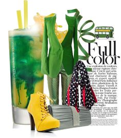 """""""Green and Yellow"""" by amanda-pandell-gilmore ❤ liked on Polyvore"""