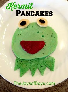 Kermit Pancakes -Easy Muppets Breakfast - #MuppetsMostWanted