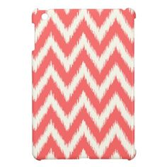 Coral Ikat Chevron iPad Mini Cases