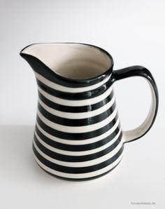 Bunzlauer Keramik Kanne schwarz 0,25 L
