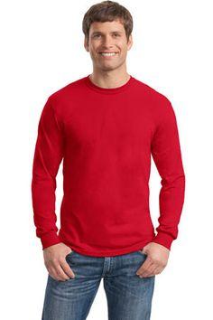Gildan - DryBlend 50 Cotton/50 DryBlend Poly Long Sleeve T-Shirt. 8400 #tshirt #menstshirt