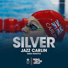 #Silver! Epic fight from Jazz Carlin sees her take home the Silver in the 800m Freestyle final. Amazing #swimming! #BringOnTheGreat