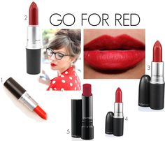 Red lipstick to wear this fall and winter. #maclipsticks #redlipstick #makeup