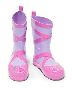 Purple Ballerina Rain Boot