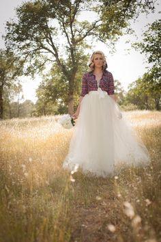 Country/Rustic/Ranch Wedding Floor Length Adult Tulle Tutu Skirt with Satin Ribbon Sash IVory/Cream Retro