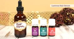 Lustrous Hair Serum recipe by Mama Natural | For more information on Young Living, come visit: www.TheSavvyOiler.com