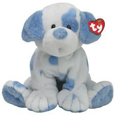 "Stuffed Plush Toy Dogs: Ty Baby 10"" Plush Baby Pups Blue Spotted Dog"