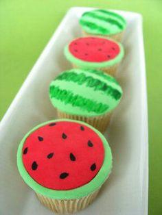 Watermelon cupcakes~