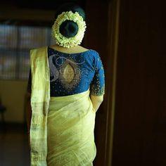 Kerala Saree Blouse Designs, Saree Blouse Neck Designs, Bridal Blouse Designs, Lehenga Designs, Set Saree, Stylish Blouse Design, Acupressure Points, Work Blouse, Indian Wear