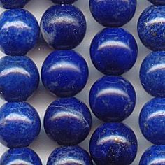 11014-6S  Lapis Lazuli 6mm Rounds, 16 inch Strand  Prized by the Pharaohs of ancient Egypt, our Lapis Lazuli gemstone beads are a lovely, deep blue with small flecks of pyrite.  The 6mm size makes them ideal for a bracelet.  If you're looking for a stone to use for men, they really love this one!