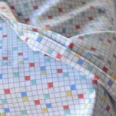 taie traversin petits carreaux vintage - deco-graphic.com