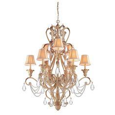 crystal chandeliers | Crystorama Lighting Group Winslow Champagne Twelve-Light Chandelier