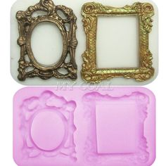 3D Mirror Frame Silicone Fondant Mould Cake Decorating Chocolate Baking Mold Kit in Crafts, Cake Decorating | eBay