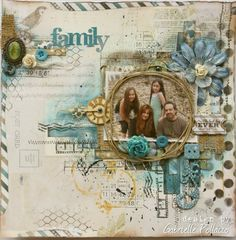 Mixed Media layout - Family - airmail edges