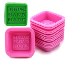 (20-Pack) ZICOME DIY Handmade Soap Molds, Baking Molds, Cupcake Liners - 100% Handmade Square Silicone - - Microwave, Oven, Refrigerator, Freezer and Dishwasher Safe for Homemade Craft ** Want additional info? Click on the image.