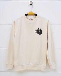 Pocket shirts sloth shirts . animal funny sloth tee shirts tumblr shirts pullover sweatshirt sweater women sweatshirt men sweatshirt by monopoko on Etsy https://www.etsy.com/listing/477310995/pocket-shirts-sloth-shirts-animal-funny