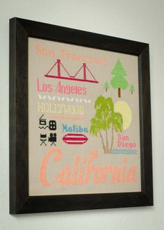 Cross Stitch Pattern - PDF- California Design