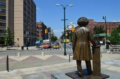 Frederick Douglas Circle. I have pics of the front of the statue too I assure you, but I liked the picture showing Douglas peering northbound into Frederick Douglas Boulevard