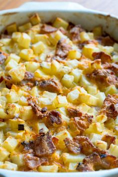 Creamy, cheesy comfort food at its finest. Potato Sides, Potato Side Dishes, Vegetable Sides, Vegetable Side Dishes, Vegetable Recipes, Crack Potatoes, Cubed Potatoes, Funeral Potatoes, Cheesy Potatoes