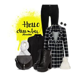 """""""nr 569 / Hello December"""" by kornitka ❤ liked on Polyvore featuring Tokyo Rose, J Brand, Class Roberto Cavalli, Maison Scotch, NOVICA, Helmut Lang, H&M and Yestadt Millinery"""