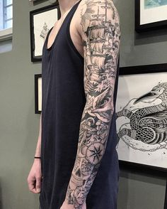 "981 Likes, 66 Comments - Veenom (@veenom_bleunoir) on Instagram: ""Merci Samy! Sleeve almost done after 22 hours of pain! #veenom #veenom_bleunoir #bleunoir…"""