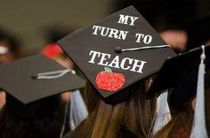teaching inspired graduation cap