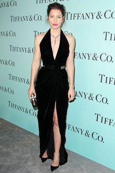 Best dressed - Jessica Biel in an Oscar de le Renta gown