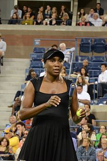 Venus Ebony Starr Williams - American professional tennis player.  She has been ranked World No. 1 in singles by the Women's Tennis Association on three separate occasions.  She became the World No. 1 for the first time on February 25, 2002, becoming the first black woman to achieve this feat during the Open Era (when Grand Slam tournaments agreed to allow professional players to compete with amateurs).