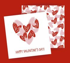 Free vector Valentine card with hearts pattern Heart Patterns, Happy Valentines Day, Vector Free, Hearts, Happy Valentines Day Wishes, Heart
