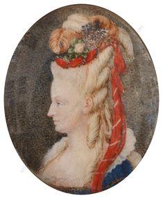 Marie-Antoinette in 1785 . More