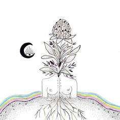 """""""You carry Mother Earth within you. She is not outside of you. Mother Earth is not just your environment. In that insight of inter-being, it is possible to have real communication with the Earth, which is the highest form of prayer"""" -Thich Nhat Hanh Art by MerakiLabbe"""