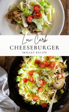Burger House Skillet is a new one for our family, and I have to say, it's one of my favorites! This cheeseburger casserole is so flavorful and an excellent option for picky eaters! I have mentioned before finding a recipe that satisfies me and my husband can be tough! This is one of those make-every-week winners that we both love! #cheeseburgerskillet #lowcarb #lowcarbrecipes #easydinnerrecipes Cheeseburger Skillet Recipe, Cheeseburger Casserole, Easy Dinner Recipes, Great Recipes, Easy Meals, Mushroom Sauce For Burgers, Skillet Meals, Ground Beef Recipes, Picky Eaters