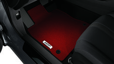 These Honda Factory Performance floor mats add a sharp contrast and sporty look to the interior of your Civic. Front and rear mats are included. Honda Civic Si Hatchback, Honda Civic Accessories, Sporty Look, Floor Mats, Oem, Car Seats, Flooring, Awesome, Amazing