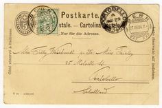 Uprated postcard from BERN ( Switzerland ) to Portobello in the U.K with a Swiss stamp, BERN 27 Aug 1904 cancellation and a Portobell 29 Aug 1904