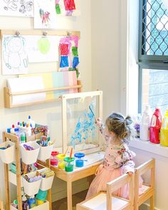 Home decoration is one of the most important elements that help you to define the… Toddler Playroom, Playroom Art, Playroom Design, Kids Room Design, Baby Zimmer Ikea, Toddler Room Organization, Weaving For Kids, Toy Rooms, Baby Play