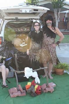 Trunk or Treat, the Cavemen family