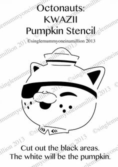 Next up in my Octonauts pumpkin stencil series is. This one is my favourite! If you do use any of my stencils; Halloween Birthday, 4th Birthday Parties, Baby Halloween, Holidays Halloween, Halloween Pumpkins, Halloween Costumes, Halloween Ideas, Halloween 2020, Halloween Stuff