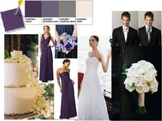 Violet,Victorian Lilac, Grey, and Ivory Wedding : PANTONE WEDDING Styleboard : The Dessy Group