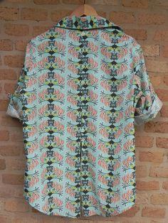 Camisa Pintassilgo abotoamento costas - Alícia Moda para mulheres reais  https://www.facebook.com/alicia.pintassilgo