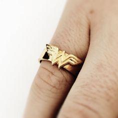 Wonder Woman ring Comic Geek gift by niquegeek on Etsy COMES IN SILVER YAYAYAYAYYAYA!