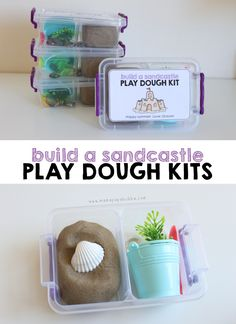 Build a Sandcastle Play Dough Kits | #kids #summer