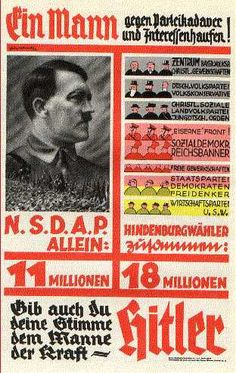 nazi posters | Nazi_Poster_-_1932_Election_Run-Off - Military Photos Images Pictures ...